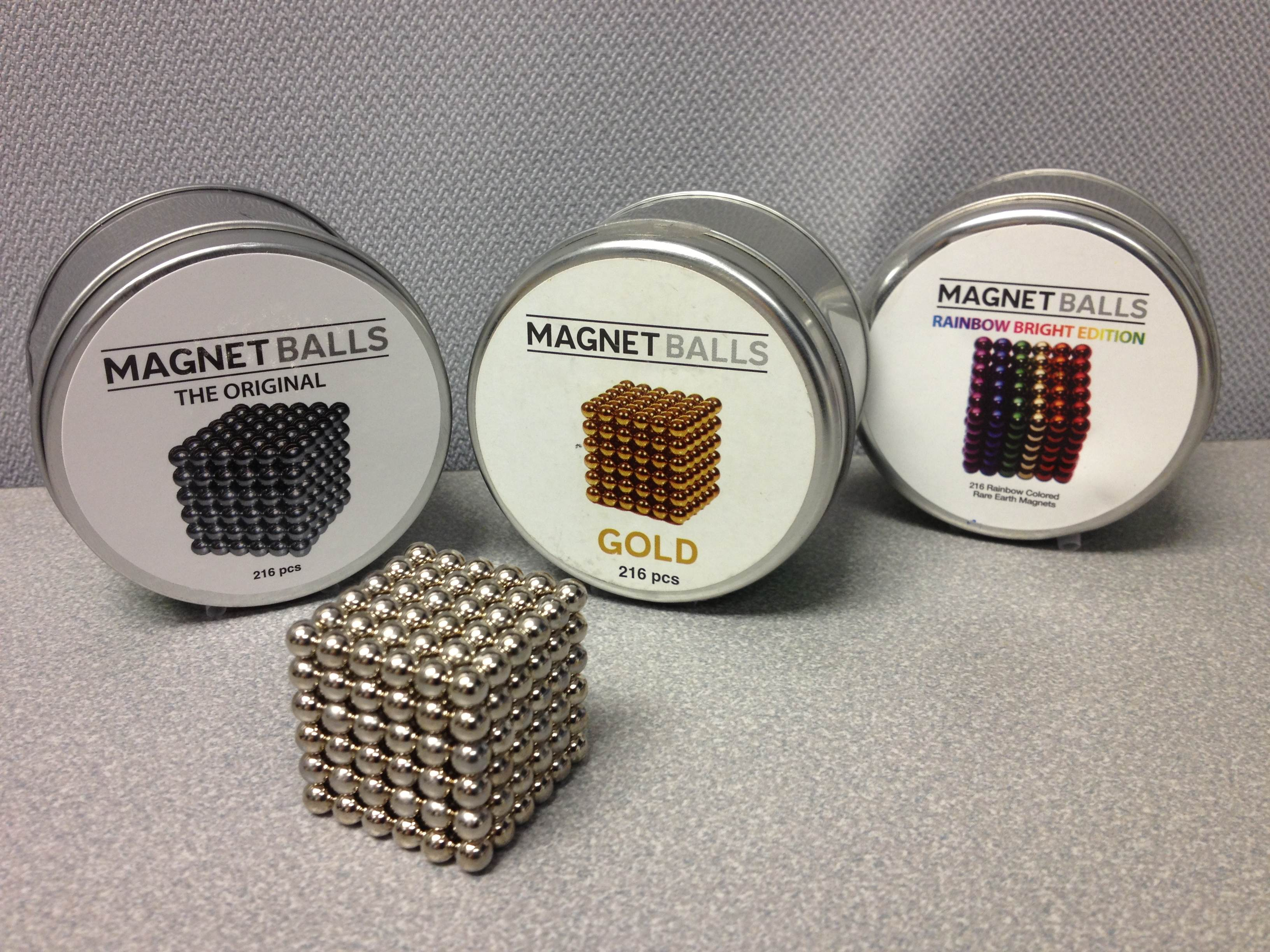 "Magnet Balls ""Rainbow Bright Edition"""