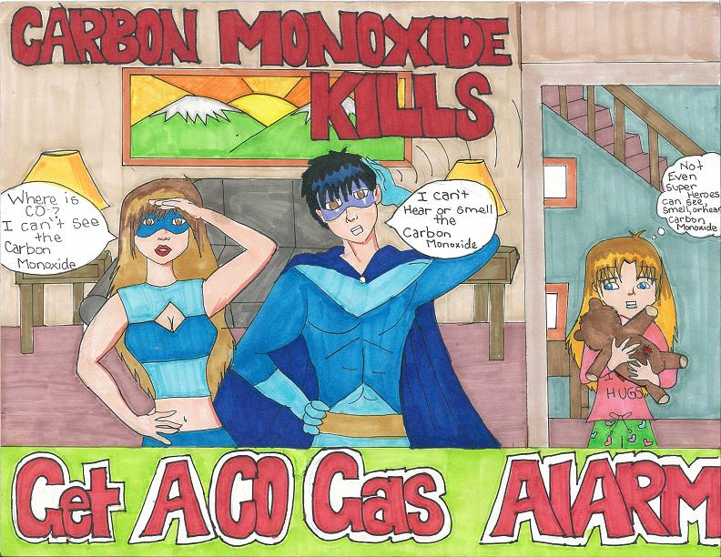 8th Grader from Hawaii Wins Grand Prize in CPSC's Carbon Monoxide Poster Contest