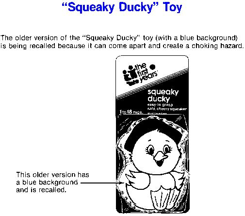 Squeaky Duck Toy