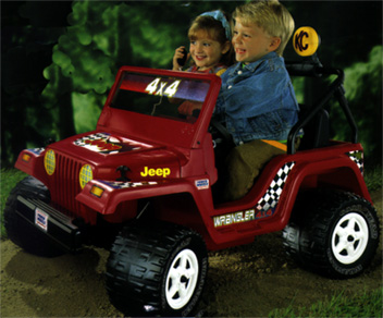 Power Wheels Jeep Wrangler Vehicle