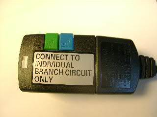 Closeup of Label on GFCI Plug