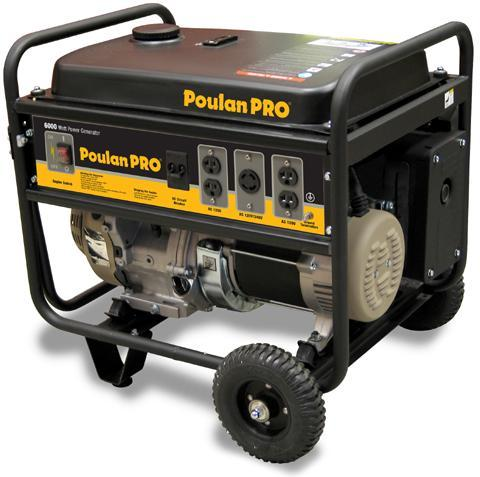 Picture of Recalled Poulan Pro 6000 Watt portable generator