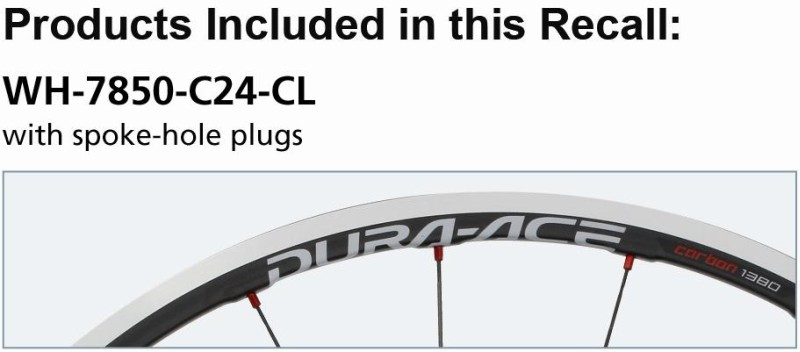 Picture of Recalled Model WH-7850 C24CL Carbon Clincher Wheel