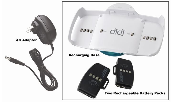 Picture of Recalled Rechargeable Batteries and Recharging Station for Didj Custom Gaming System