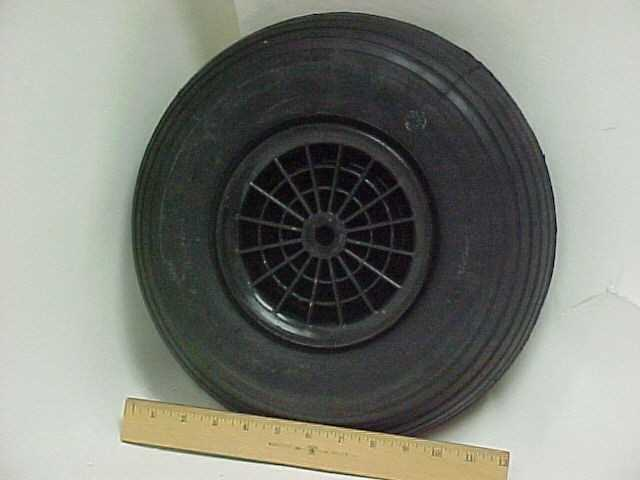 Picture of Recalled Wheelbarrow Plastic Wheel Assembly