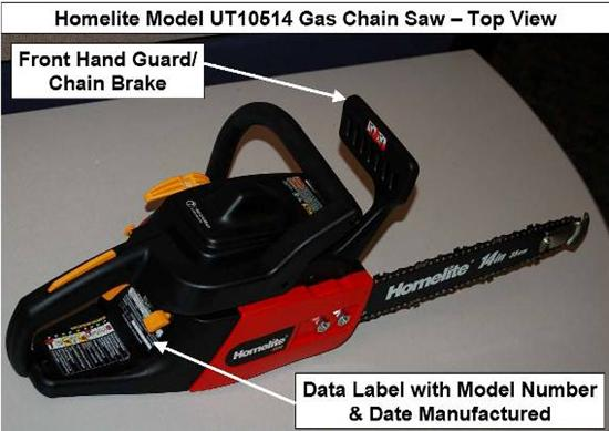 Homelite Consumer Products Announce Recall to Repair Chain ...