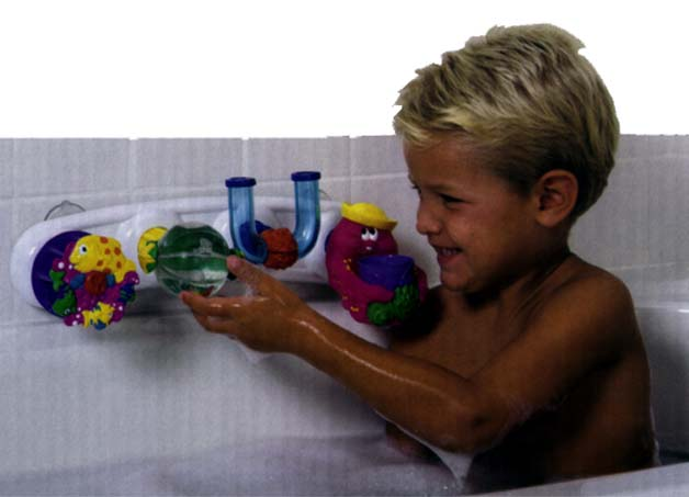 Picture of Boy Playing with Activity Tray