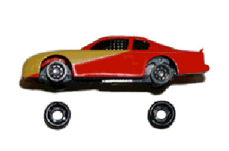 Picure of Toy Car With Wheels Off