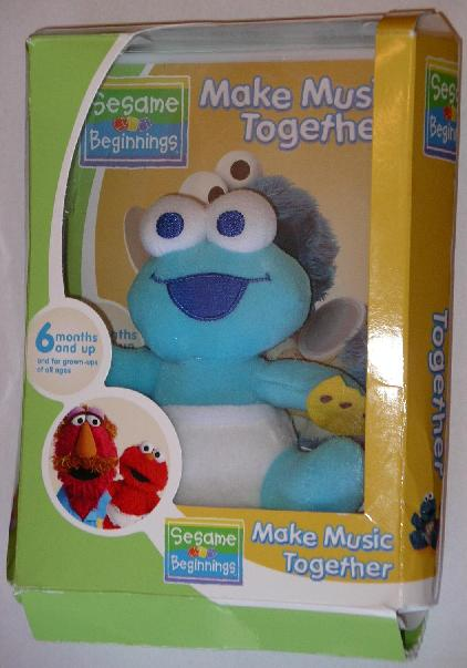 Picture of Recalled Cookie Monster Plush Toy in Packaging