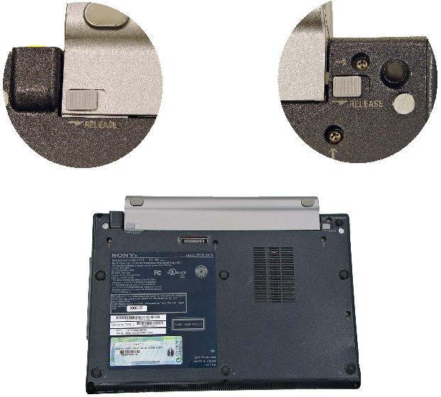Picture of Sony Recalled Battery latch