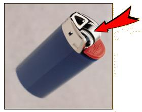 Picture of lighter with a child-resistant mechanism