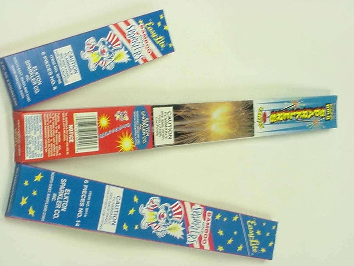 Recalled Sparklers