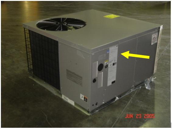 Picture of Recalled Gas Furnace and AC Unit