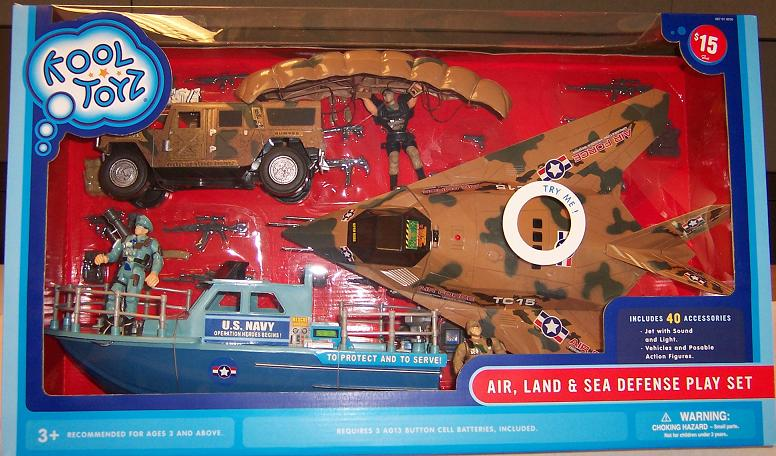 Picture of Recalled Air, Land and Sea Defender Play Set