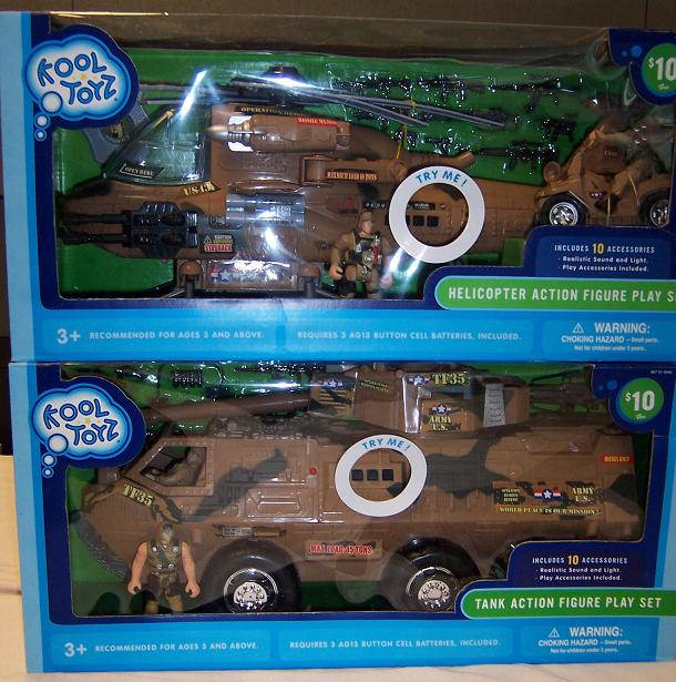 Picture of Recalled Helicopter Action Figure Play Set and Tank Action Figure Play Set