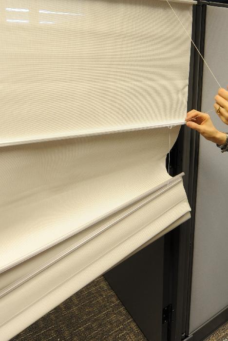 Picture of Recalled Roman Shade showing cord