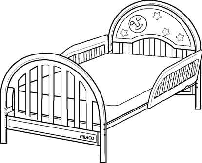 Picture of Recalled Toddler Bed