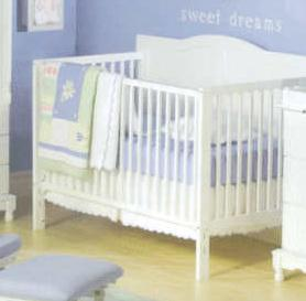 Picture of Recalled 3 -1 Heritage Crib - White Model # DA0504KMC-1W