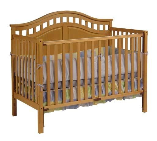 Picture of Recalled 3-1 Convertible Crib - Natural Model # DAKM1615B3