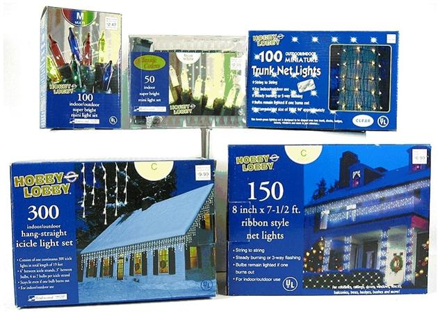 Picture of Recalled Hobby Lobby Light Sets