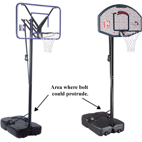 Picture of Recalled Portable Basketball Hoops
