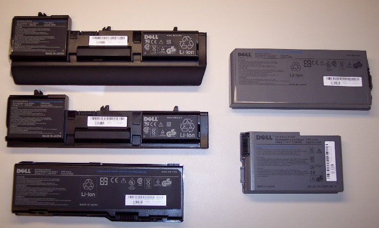 Picture of Recalled Notebook Computer Batteries