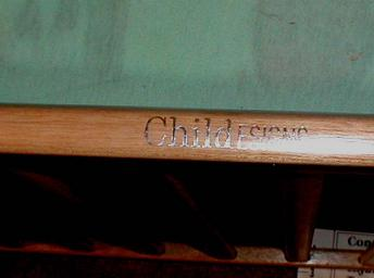 Picture of name 'ChildESIGNS' on teething rail