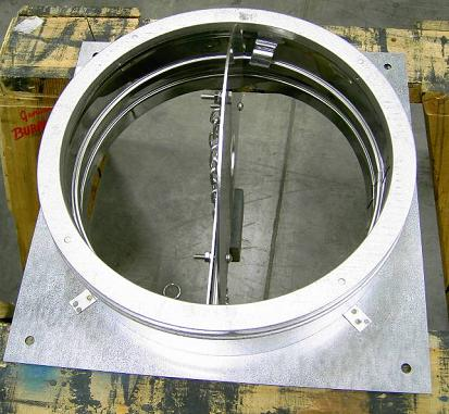 Recalled Anchor Plate with Damper in open position