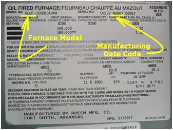 Rheem Recalls To Repair Oil Fired Furnaces Due To Fire