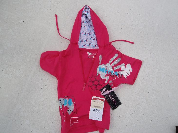 Picture of Girl's Pink Short-Sleeve Lightweight Jacket