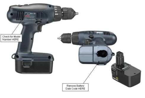 Picture of Recalled Cordless Drill/Drivers