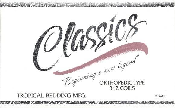 Picture of Recalled Classics Mattress Label