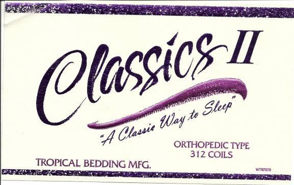Picture of Recalled Classics II Mattress Label