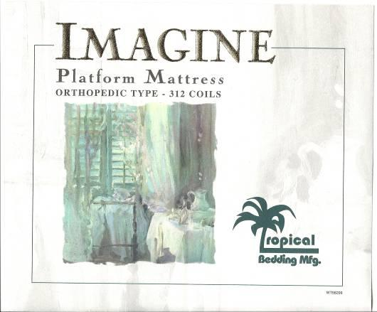 Picture of Recalled Imagine Mattress Label