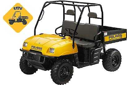 Picture of recalled Professional Series Utility Task Vehicle