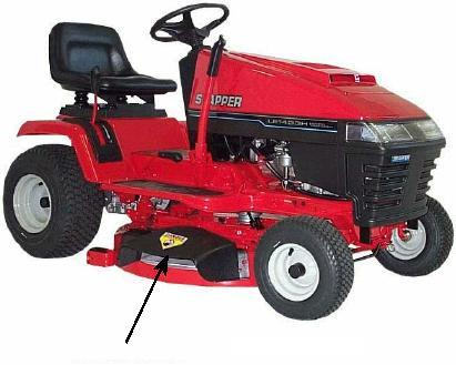 Picture of recalled Riding Lawn Mower model LT145H33HBV