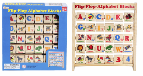 Picture of Recalled Flip-Flop Alphabet Blocks