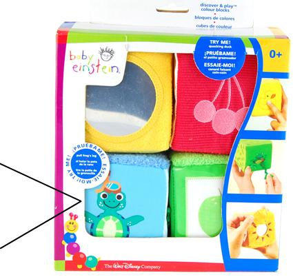 Picture of Recalled Baby Einstein Discover & Play Color Blocks