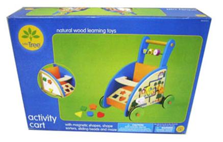 Picture of Recalled Little Tree Wood Activity Cart