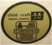 Picture of 'child craft' label for recalled crib