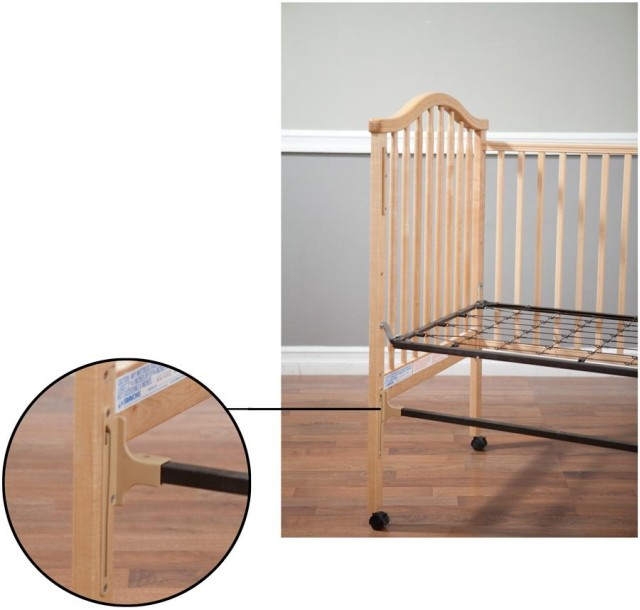 Picture of recalled crib with location of hazard identified