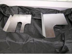 Picture of Incorrect Heat Shield and Correct Heat Shield