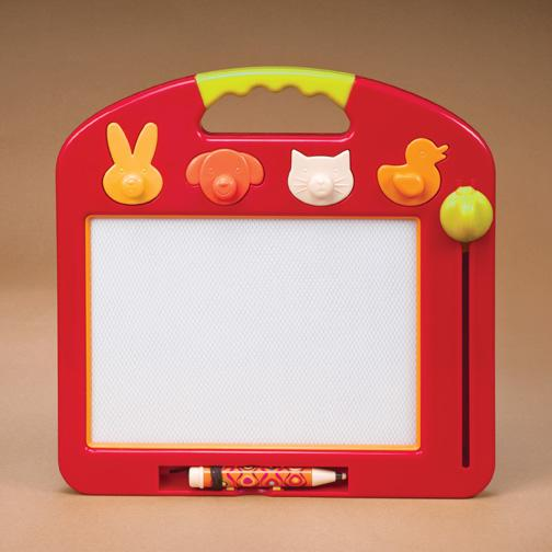 Picture of recalled BX1026 (red frame) magnetic sketchboard