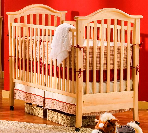 Picture of recalled crib having part number beginning with E1230C2