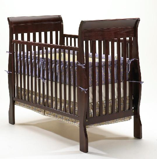 Picture of recalled crib having part number beginning with E5100C2