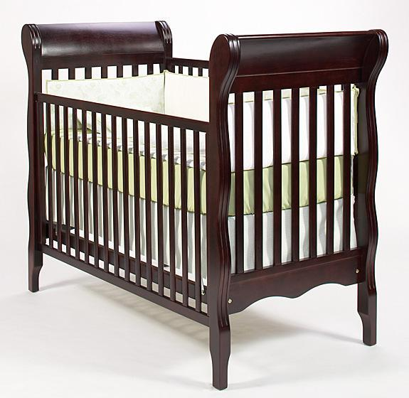 Picture of recalled crib having part number beginning with E9000C2