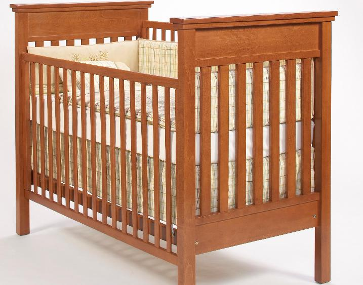 Picture of recalled crib having part number beginning with E9100C2