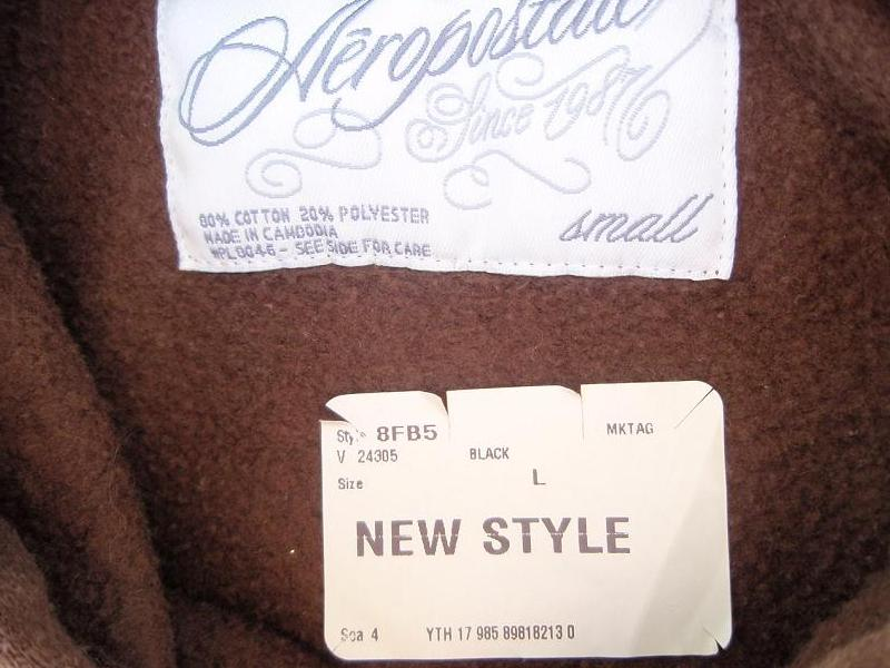 Recalled Aeropostale jacket label