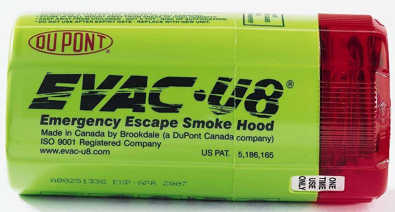 Picture of Recalled Emergency Smoke Hood