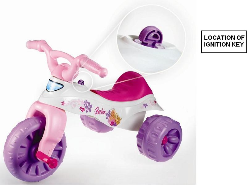 Recalled trikes' ignition key location
